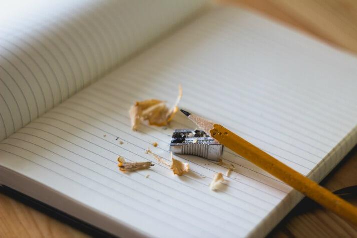 Education Quizzes pencil and paper