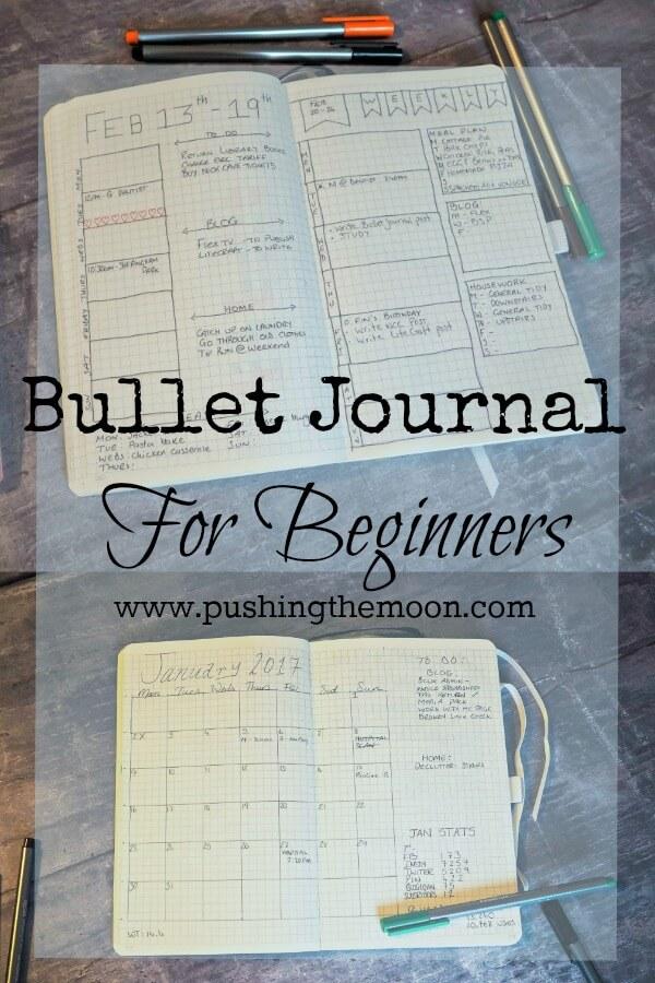 Bullet Journal for Beginners www.pushingthemoon.com