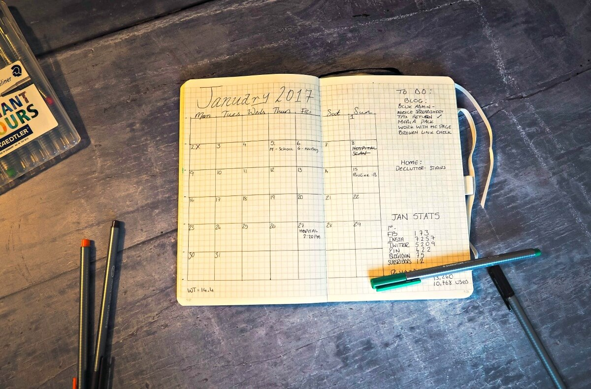 Bullet-Journal-Monthly-Spread