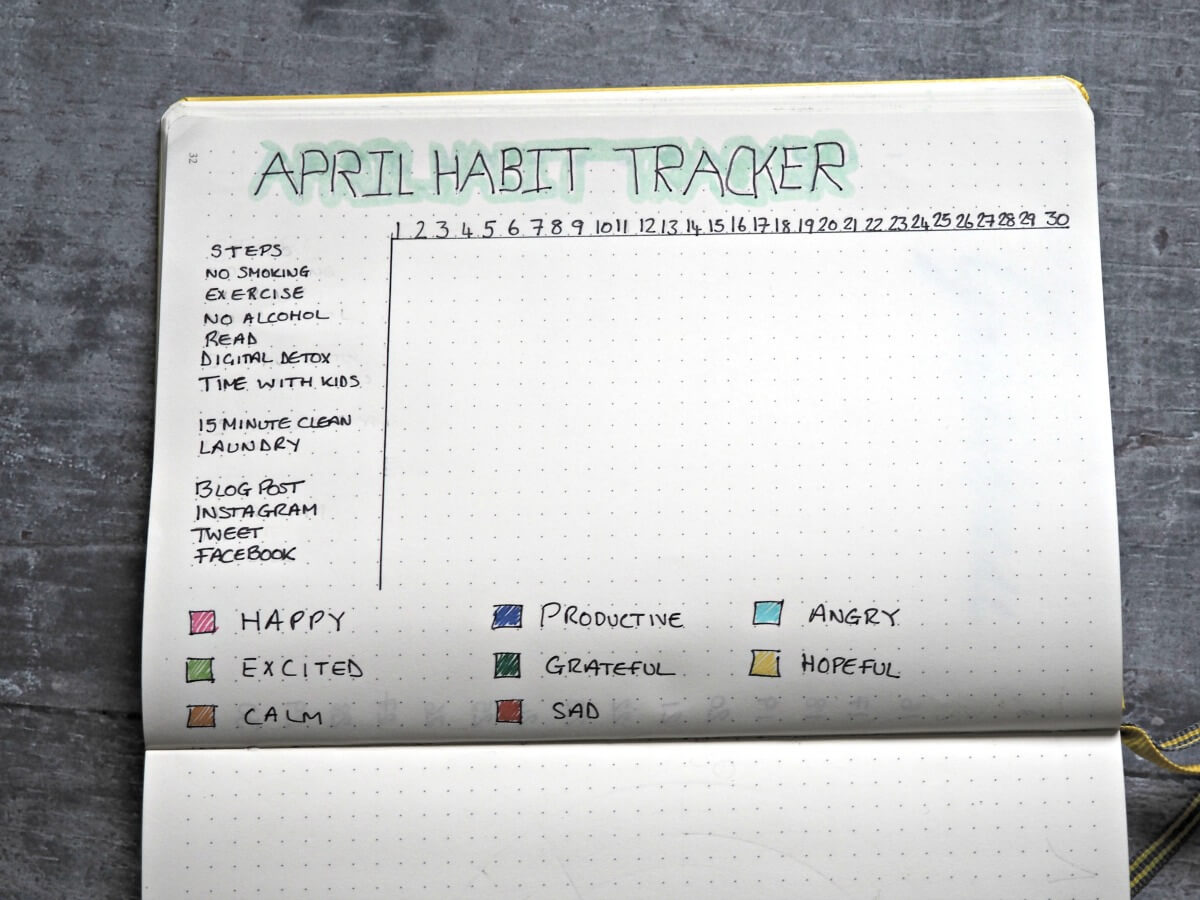 April-Bullet-Journal-Set-up-Habit-Tracker-and-mood