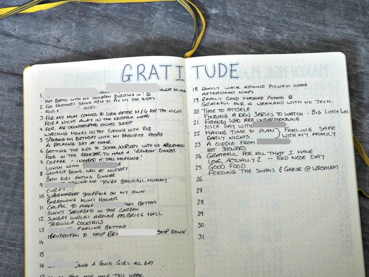 April-Bullet-Journal-Set-up-March-Gratitude