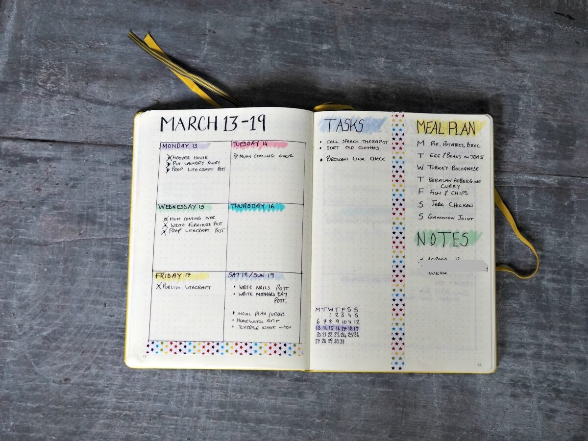 April-Bullet-Journal-Set-up-March-Weekly-Spread