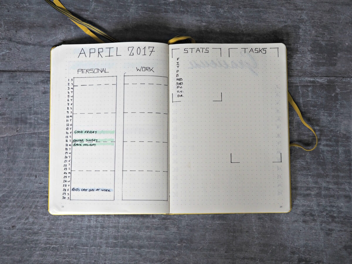 April-Bullet-Journal-Set-up-Monthly-Log