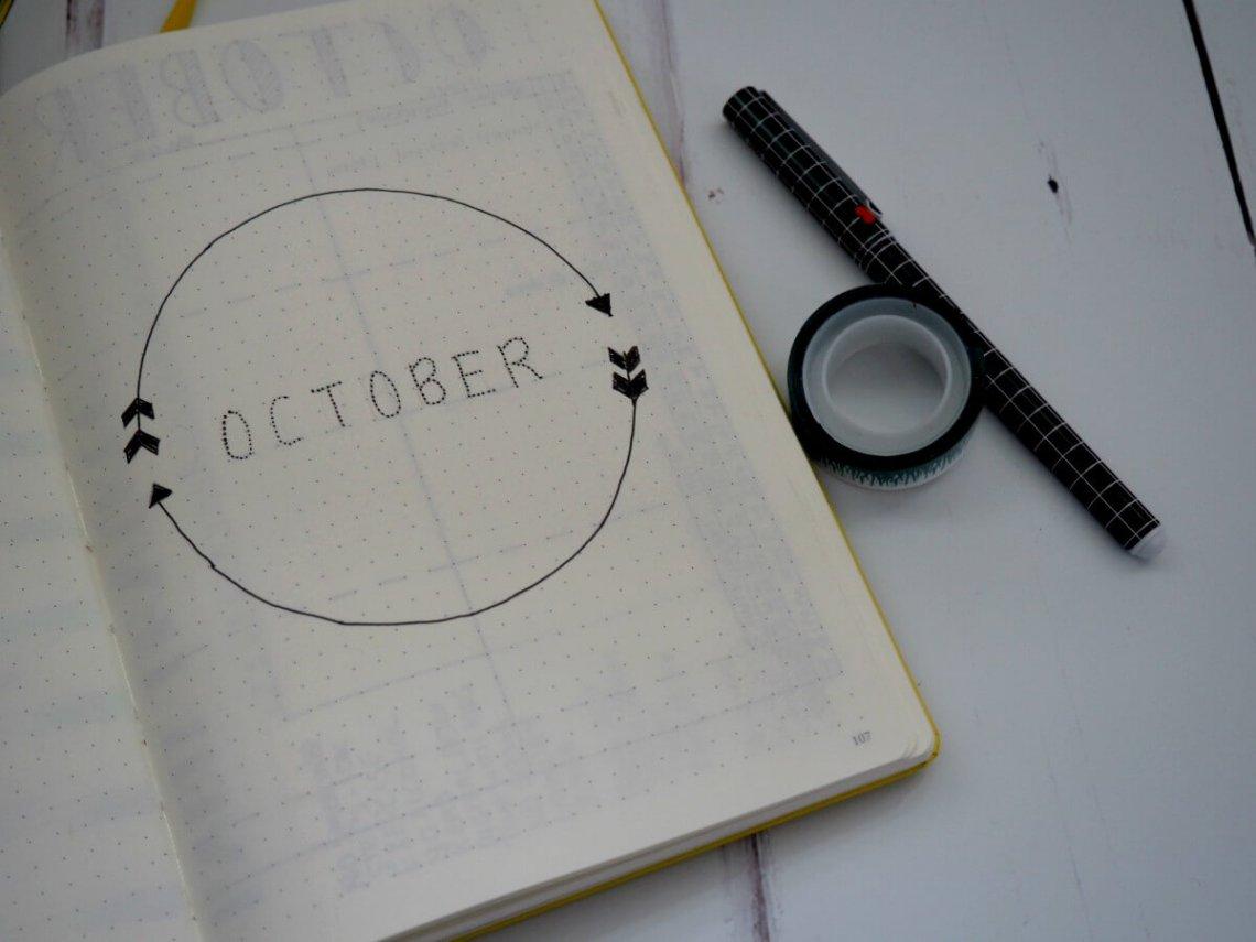 October Bullet Journal Set Up header