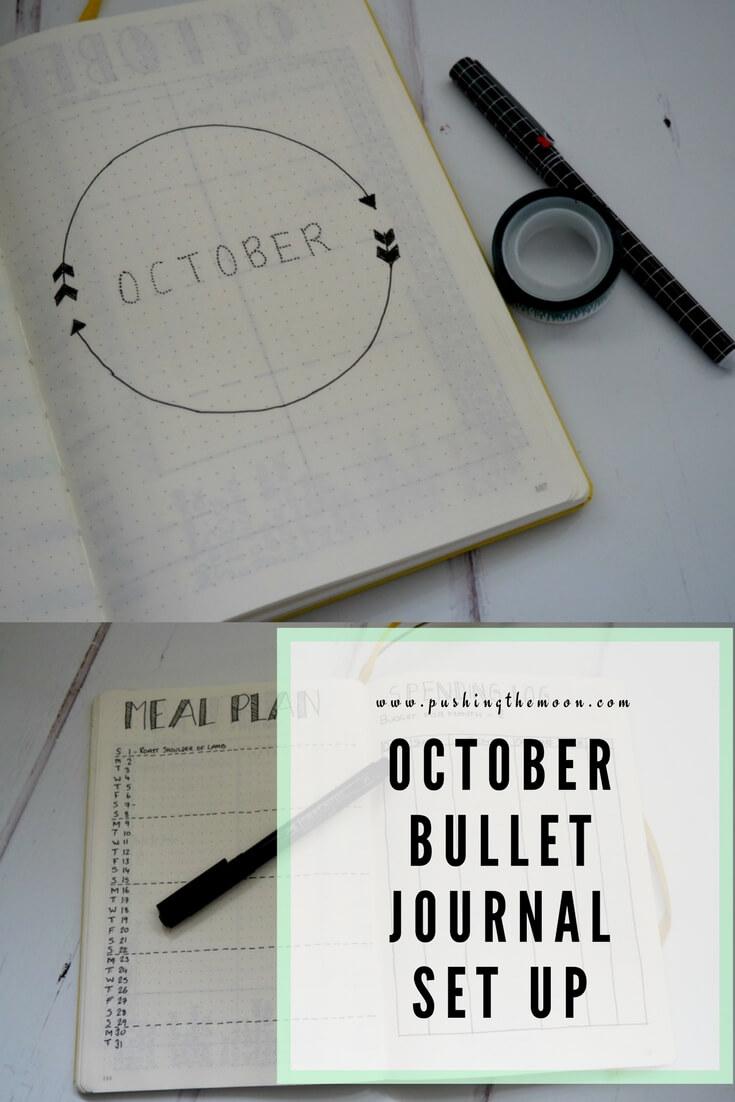 October Bullet Journal Set Up