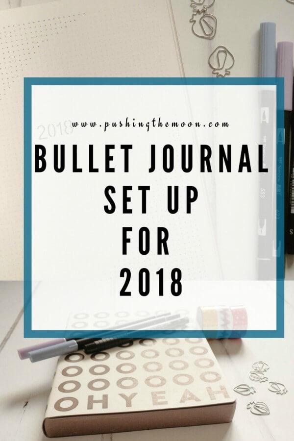 Bullet Journal Set Up for 2018 - Pin