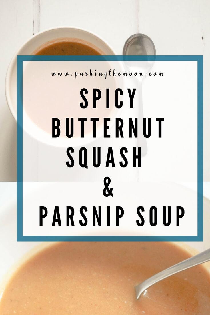 Spicy Butternut Squash & Parsnip Soup Pin