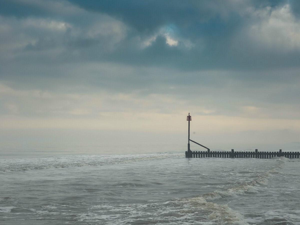 Mundesley beach in winter