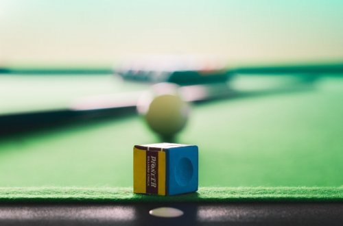 How to create the perfect family gaming room - snooker chalk on table