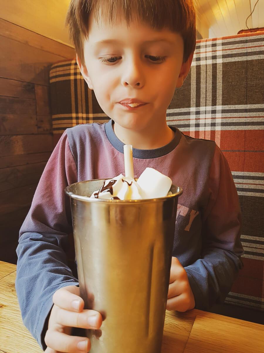 Looking back at July - chocolate milkshake at The Station Smokehouse
