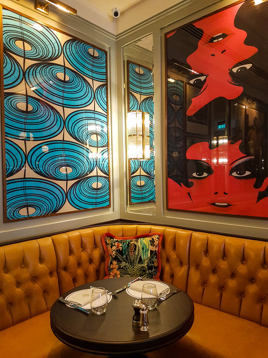 The Ivy Brasserie, downstairs decor
