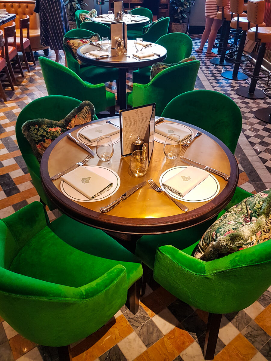 The Ivy Brasserie - table
