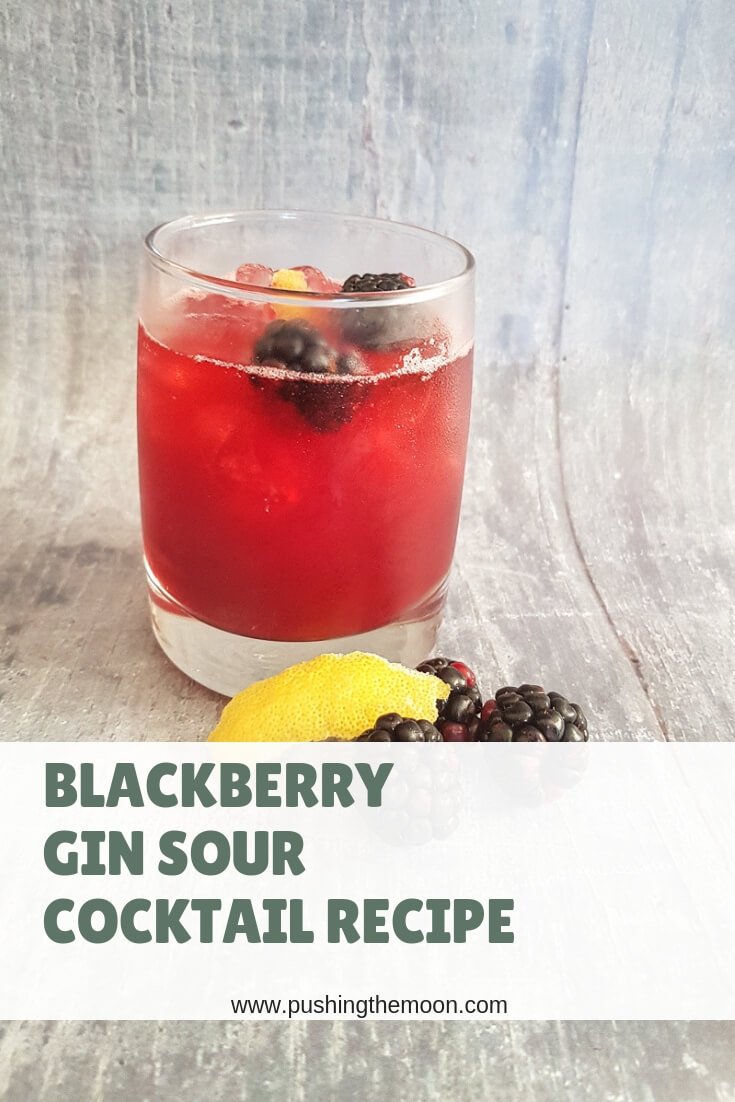 Blackberry Gin Sour Cocktail - Recipe