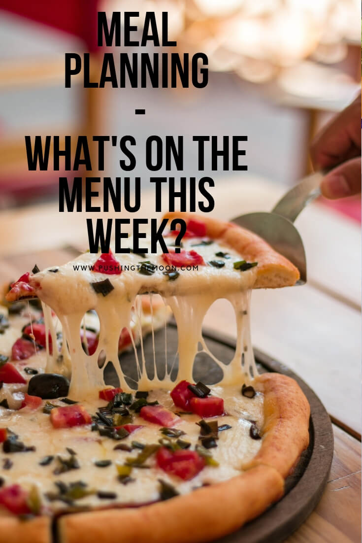 What's on the menu this week - pizza
