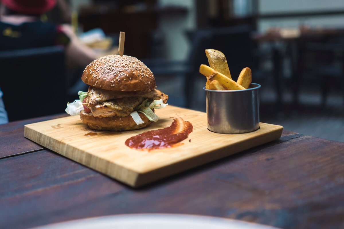 Why do people love chips? Burger and chips