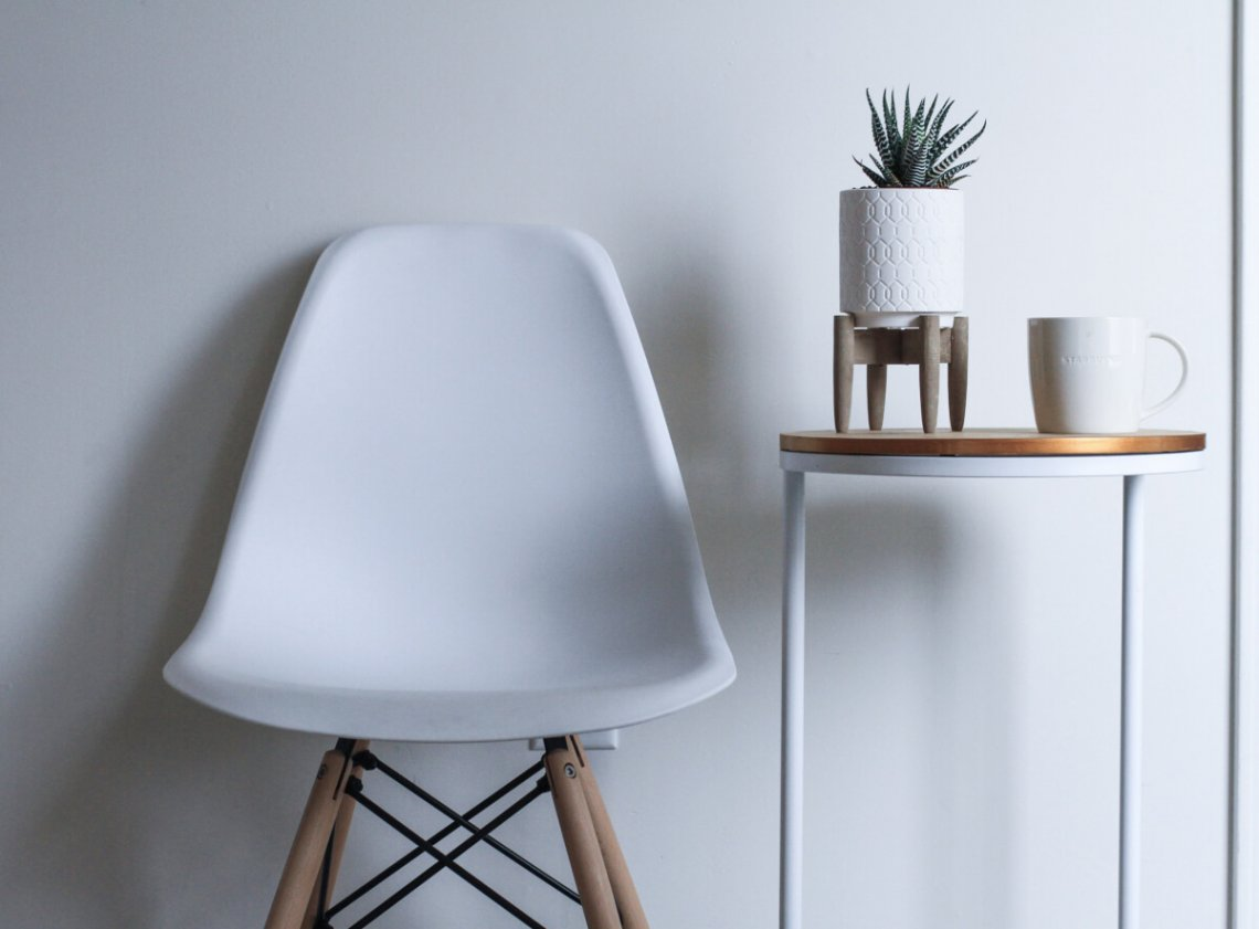 Grey and white furniture