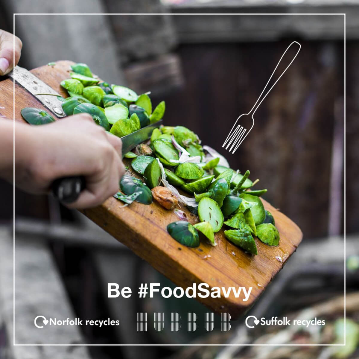 #Foodsavvy Campaign - sprouts being put in the bin