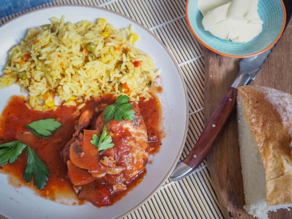 slow cooker chicken cacciatore - perfect for winter