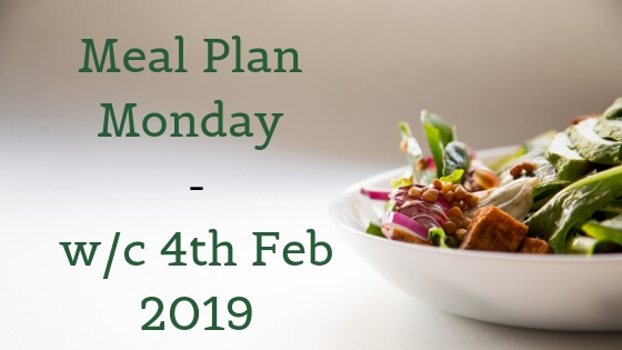 meal plan monday - bowl of food on white background